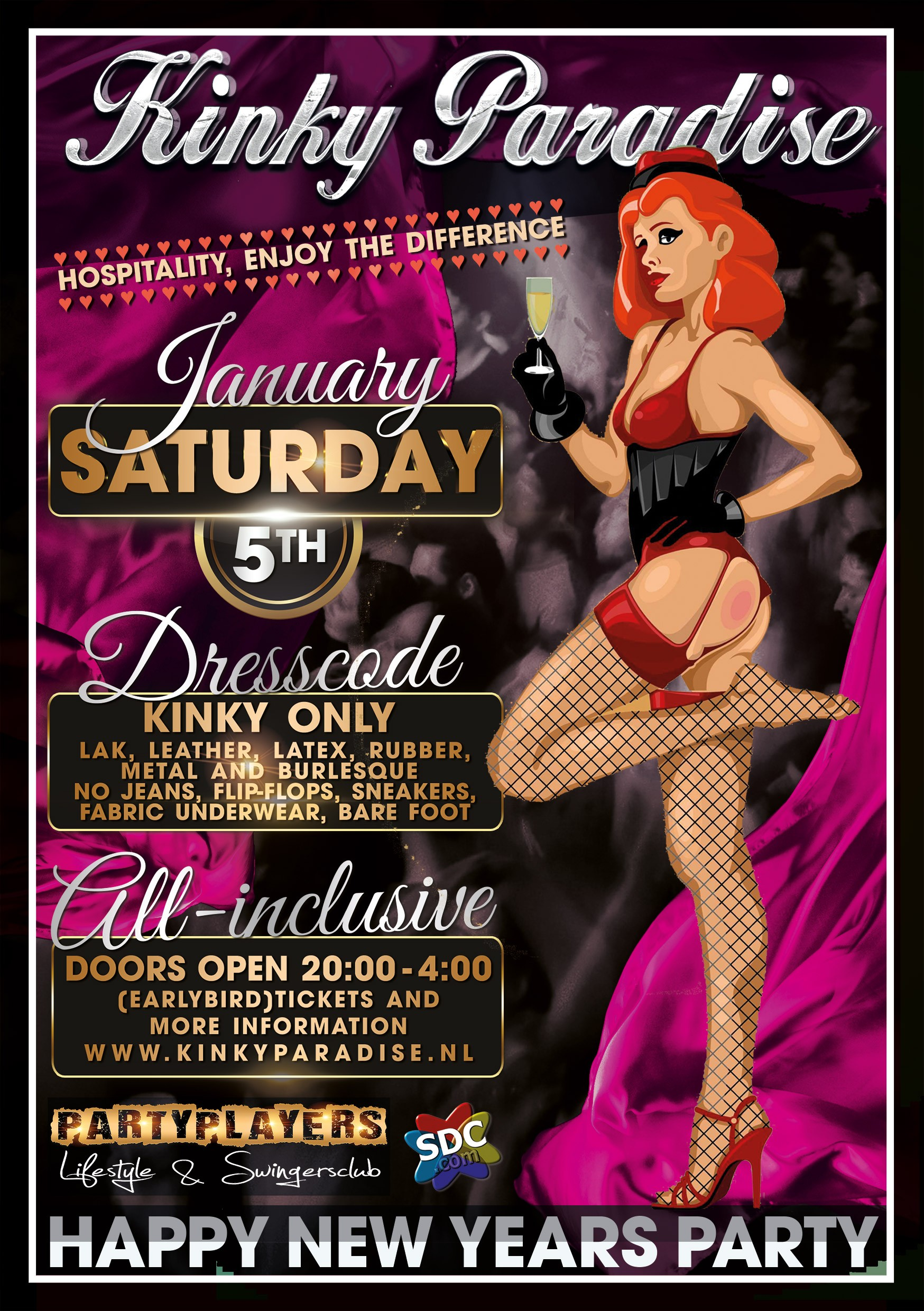 5 januari 2019 Kinky Paradise New Years Party