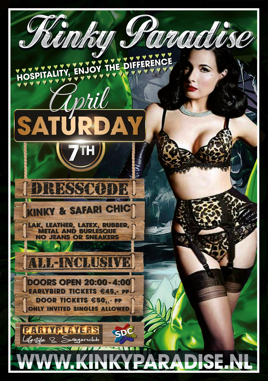 7 april 2018 Kinky Paradise meet Safari Chic
